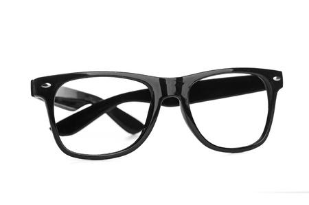 black glasses on a white background Stock Photo - 17694791