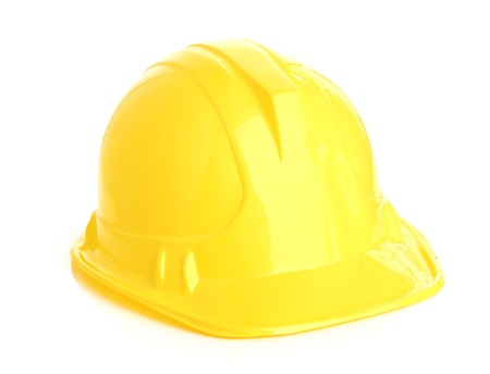 Isolated yellow helmet Stock Photo - 18190999