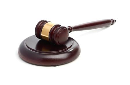 Judge s gavel isolated on white Stock Photo - 18191038