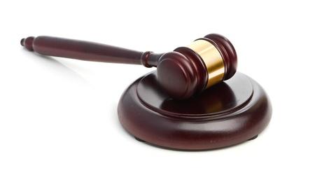 Judge s gavel isolated on white Stock Photo - 18324544