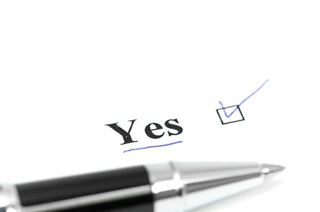 yes word Stock Photo - 18688449
