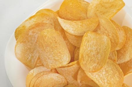 Potato chips background Stock Photo - 19838853
