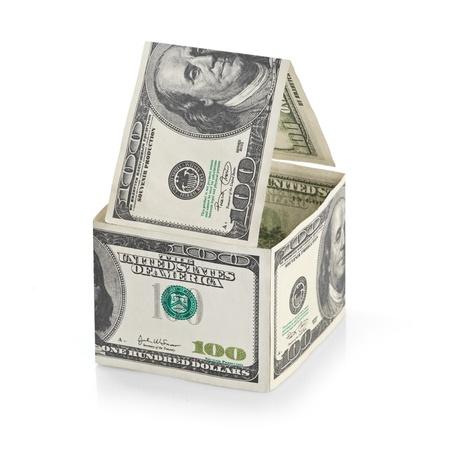 House of dollars  Isolated on white background photo