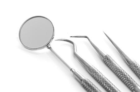Basic dentist tools isolated on white Reklamní fotografie