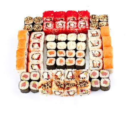 sushi, isolated on white  photo