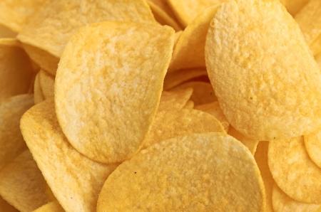channeled: Potato chips background Stock Photo