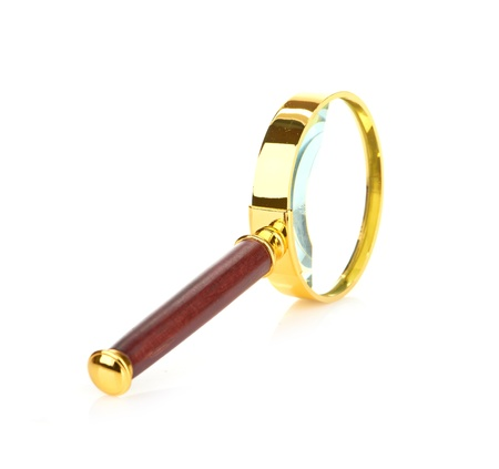 Retro magnifying glass Stock Photo - 20542422