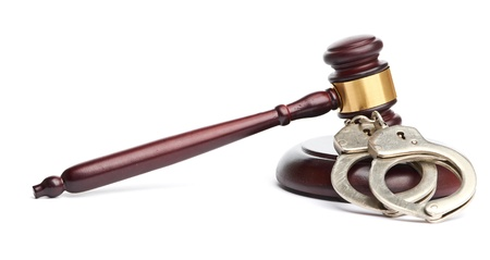 restraints: A pair of handcuffs and gavel