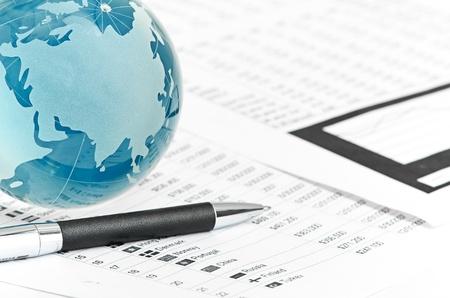 international monitoring: Glass globe