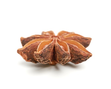 aniseed: Star anise isolated on white background