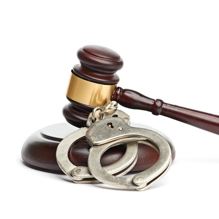 handcuffs and gavel Stock Photo - 22210030