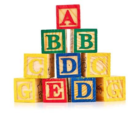 baby blocks: wooden cube alphabet
