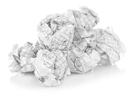 Crumpled paper balls photo