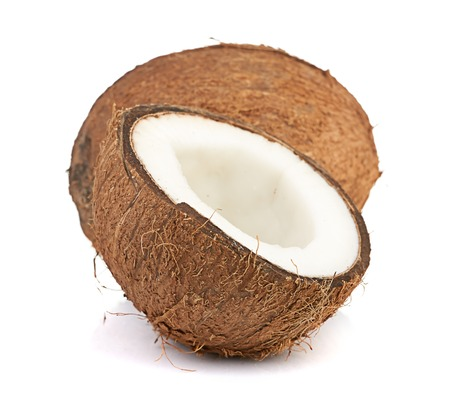 coconut on white photo