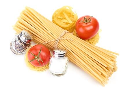 Setting pasta with tomato and garlic Stock Photo - 23973423