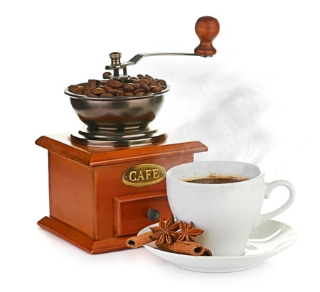 coffee beans and grinder photo