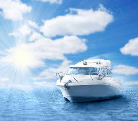 bateau de course: bateau � moteur