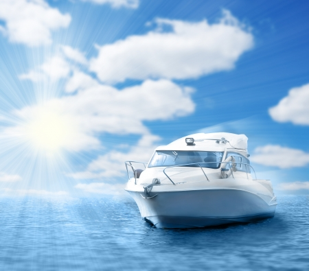 power boat: motor boat