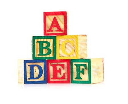 wooden cube alphabet photo