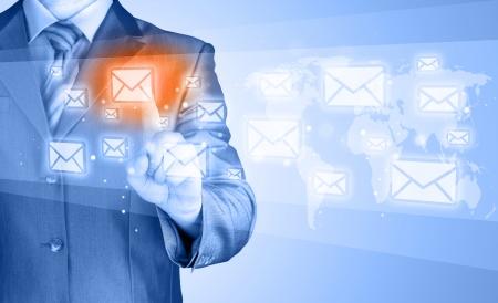 mail man: Businessman email concept