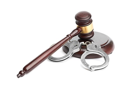 handcuffs and gavel photo