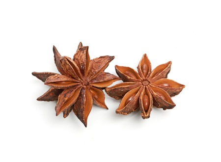 flavorings: Star anise isolated on white