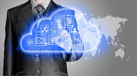 computing device: Cloud computing touchscreen interface