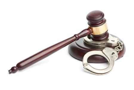 handcuffs and gavel Stock Photo - 26437851