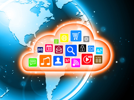 Cloud computing concept design suitable for business presentations, infographics, etc. photo