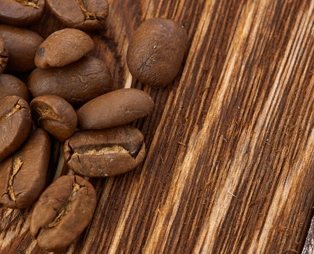 coffeetree: Coffee beans on wood