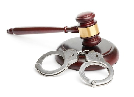 restraints: handcuffs and gavel
