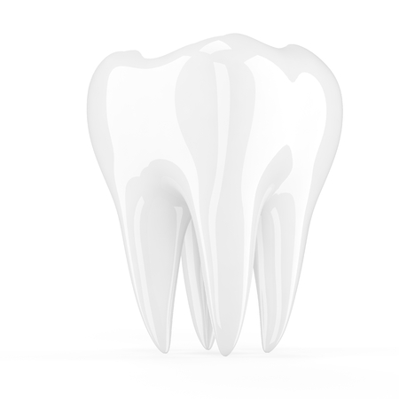 carious: 3D Tooth isolated on white