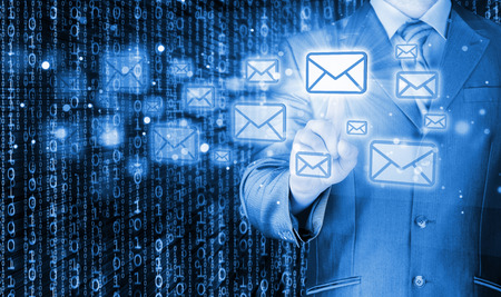 Businessman email concept photo