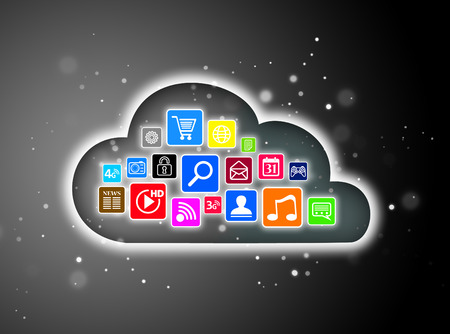 Cloud computing concept for business presentations photo
