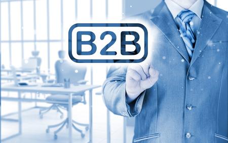 b2b: de negocios que apunta a la palabra B2B
