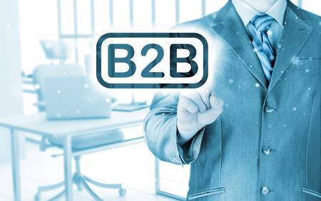 b2b: de negocios que apunta a la palabra B2B,
