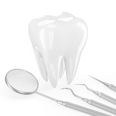 dentin: dentist tools and tooth