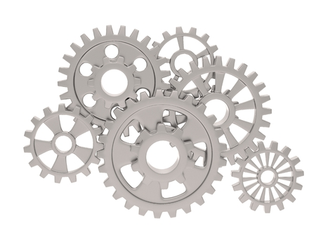 gears on white photo