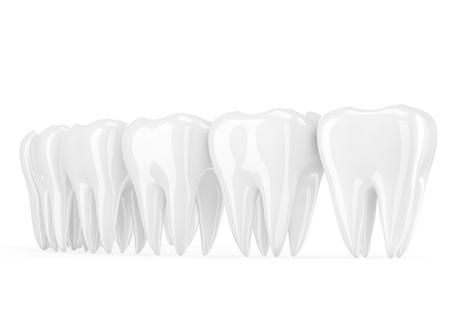no teeth smile: teeth on white