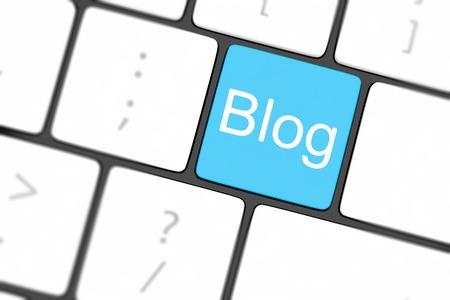blog bloggar or inernet blogging concept with key photo