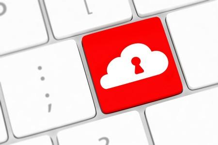 Cloud computing security concept  photo