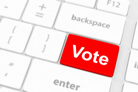 option key: vote button on computer keyboard  Stock Photo