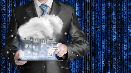 input device: Cloud computing, technology connectivity concept Stock Photo