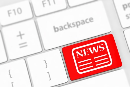 News key on a white keyboard photo
