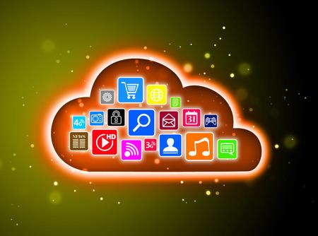 Cloud computing concept design suitable for business presentations, infographics, etc. photo