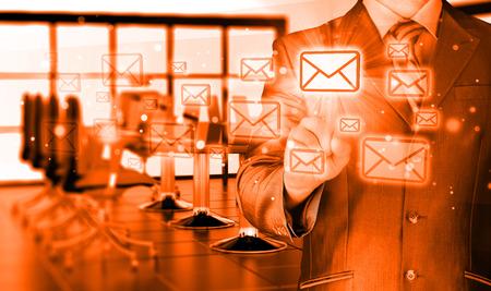 Businessman email concept photo