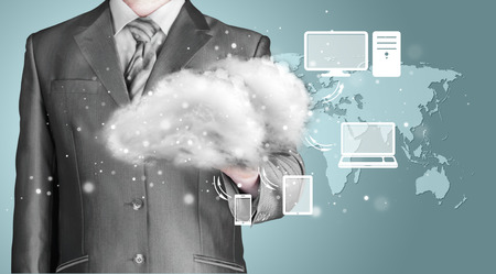 connectivity concept: Cloud computing, technology connectivity concept Stock Photo