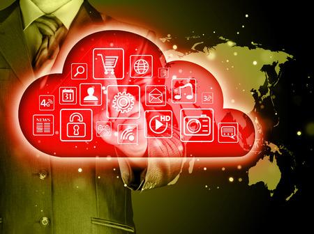 cloud computing: Cloud computing touchscreen interface