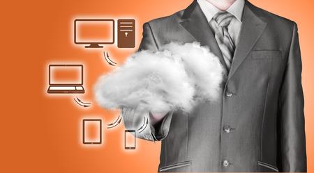 connectivity: Cloud computing, technology connectivity concept Stock Photo