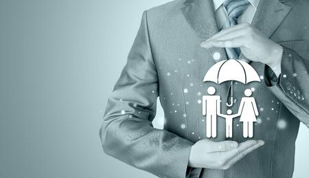 agent de s�curit�: affaires concept de l'assurance de la protection familiale